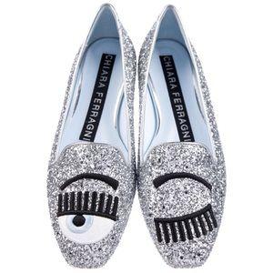 🆕 Chiara Ferragni 🧿 slippers black glitter flat